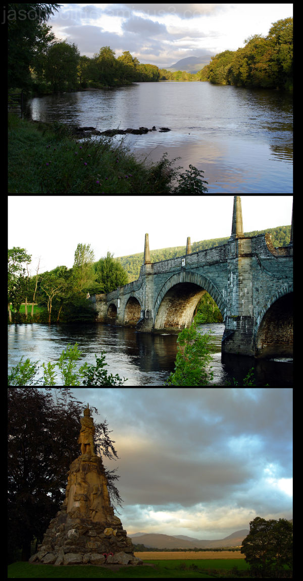 River Tay, Wade's Bridge, Black Watch Monument
