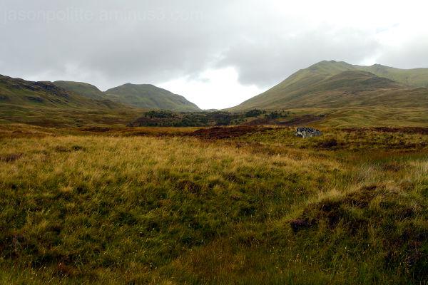 The Ben Lawers mountain range.