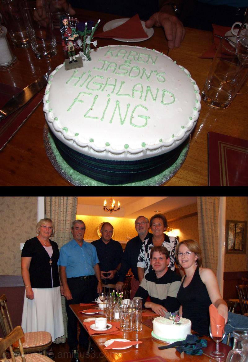 The end of Jason & Karen's Highland Fling