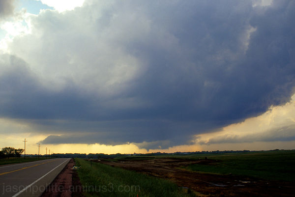 The Woonsocket, SD tornado developing on June 24