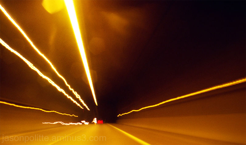 Long exposure through the Bobby Hopper Tunnel