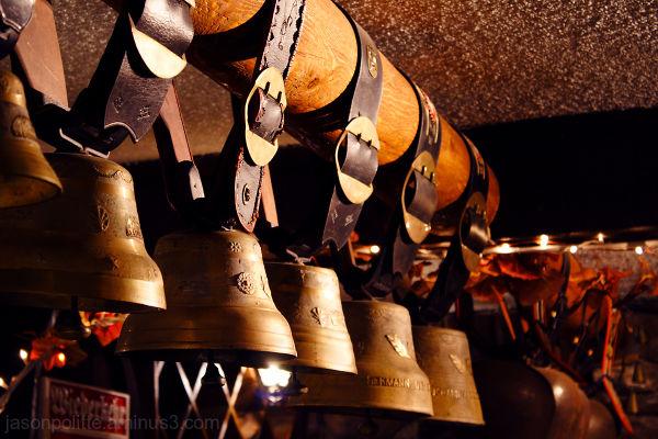 Cowbells in Wiederkehr's Weinkeller Restaurant