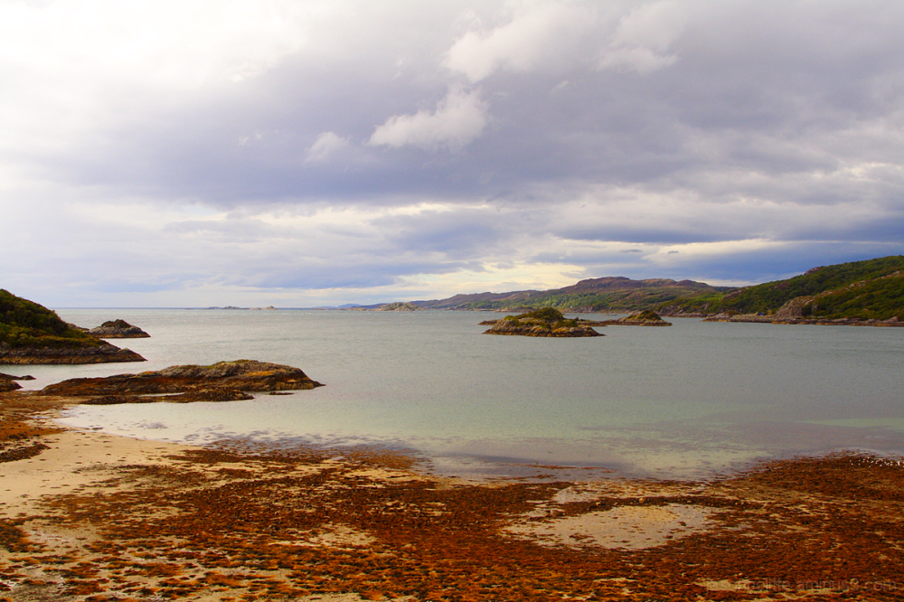 Scottish coastline near the outskirts of Mallaig