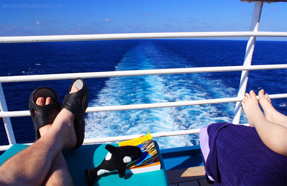 Lounging on the Carnival Elation's Serenity Deck