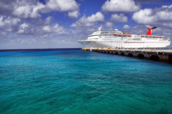 Carnival Elation docked at Cozumel in Caribbean