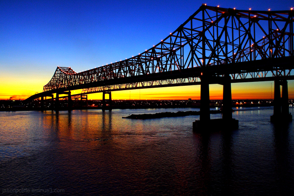 The Crescent City Connection bridge in New Orleans