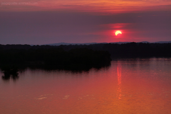 Solar Eclipse of May 20, 2012 at sunset