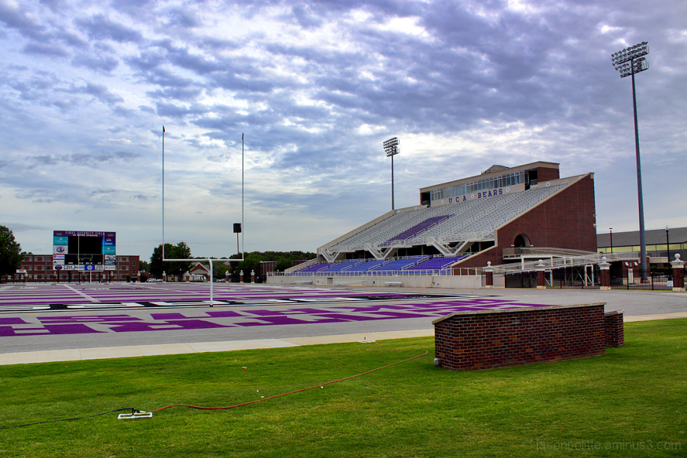UCA Football Bears Stadium with new astroturf