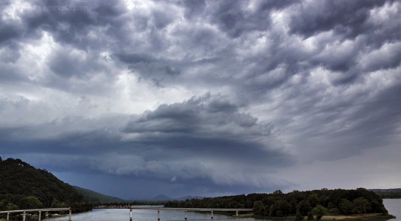 Severe storm over Pinnacle Mountain