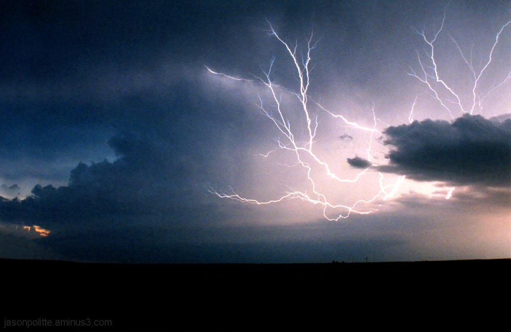 Anvil Crawler lightning lights up the sky