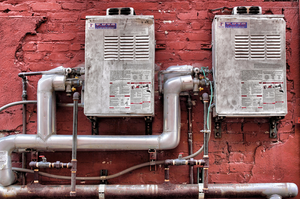 Flash Water Heaters with a steampunk look
