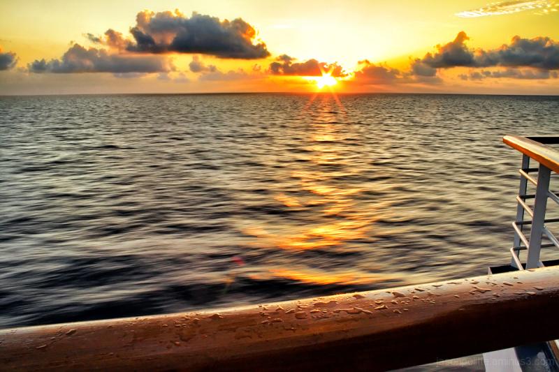 Sunrise at sea onboard the Carnival Elation