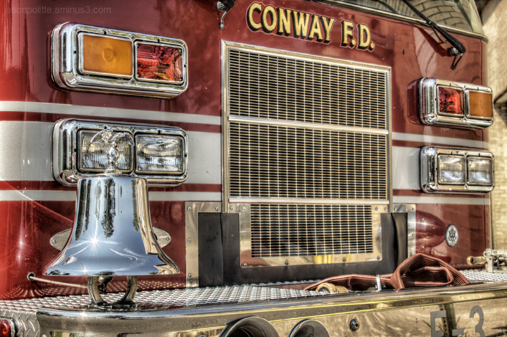 Conway Fire Department Firetruck with bell