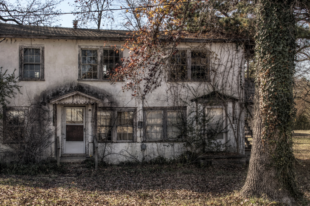 Old abandoned and forlorn house.