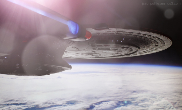 The Enterprise-D discovers a new world.