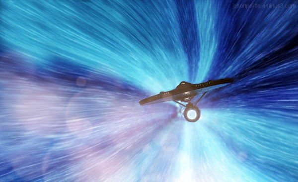 NCC-1701 USS Enterprise at warp speed