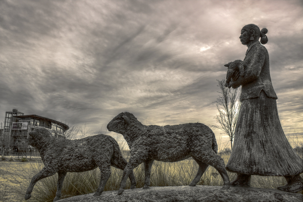 """Homeward Bound"" sculpture Heifer International"