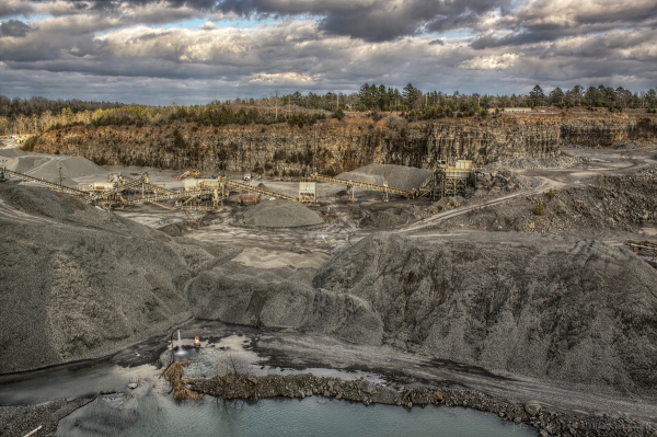 The Rogers Group Quarry in Greenbrier, Arkansas