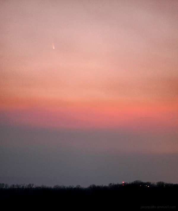 Comet PanSTARRS seen from the Cadron in Conway, AR