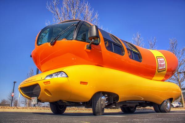 The Oscar Meyer Wienermobile in Little Rock