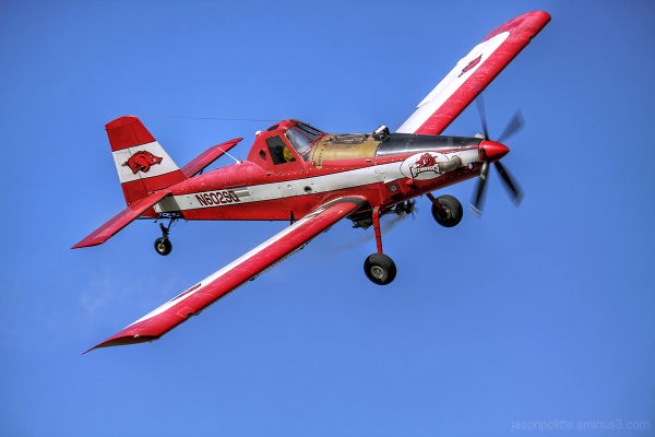 Stan Ferguson's Arkansas Razorbacks crop duster
