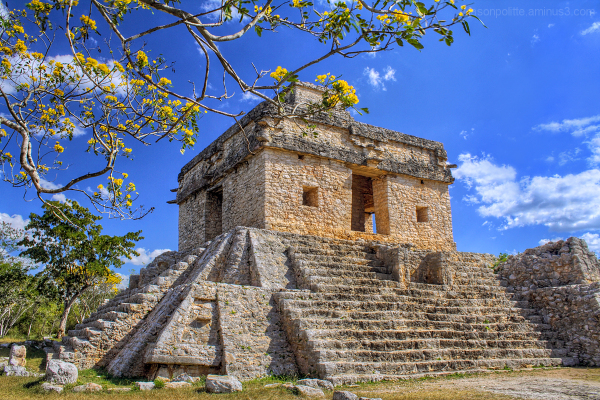 Temple of the Seven Dolls at Dzibilchaltun, Mexico