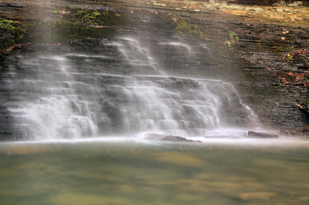 The mist of Cornelius Falls - Heber Springs, Ark.