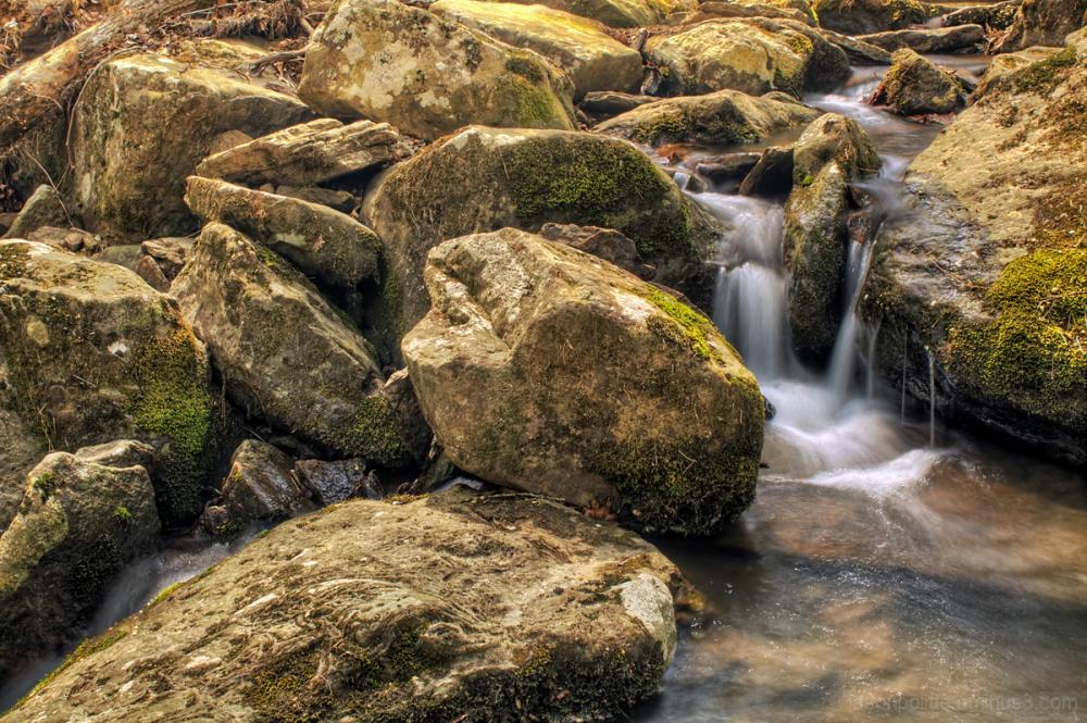 The stream leading to Bridal Veil Falls.