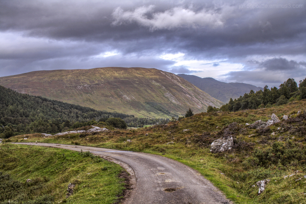 The road through Glen Lyon