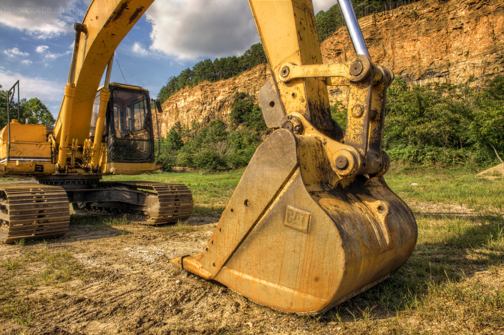 Excavator at Big Rock Quarry