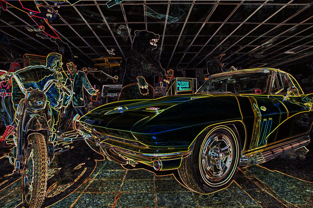 Corvettes, Elvis, Nehi Soda - stylized!