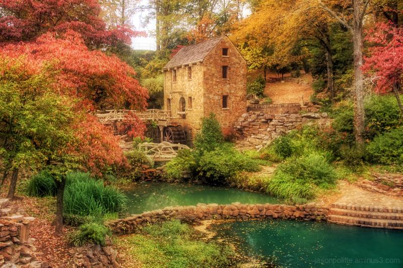 The Old Mill in Autumn - Arkansas