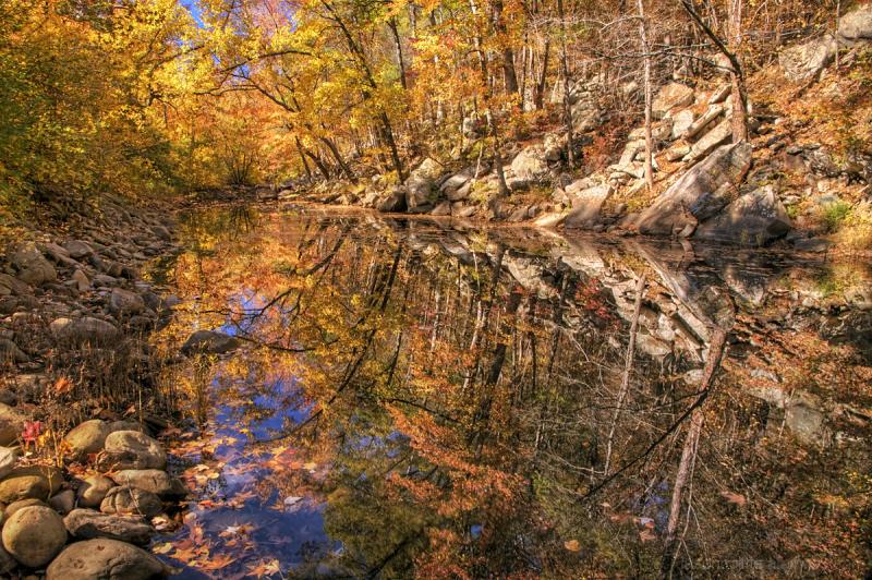 Autumn Reflections on Big Shoal Creek