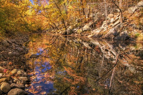 Autumn Reflections on Big Shoal Creek