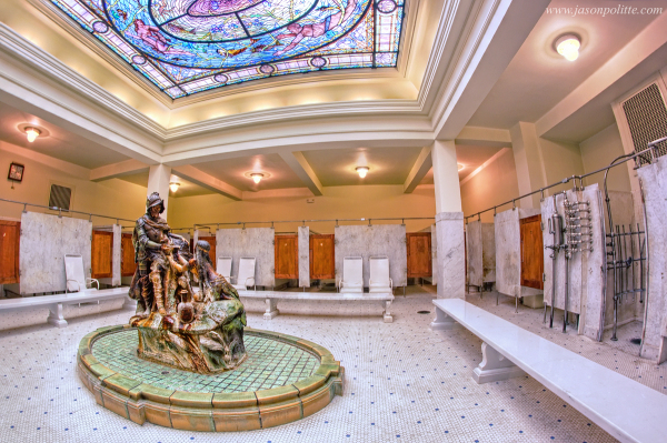 De Soto Fountain at Fordyce Bathhouse