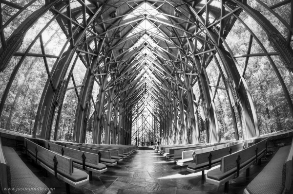 The interior of Anthony Chapel