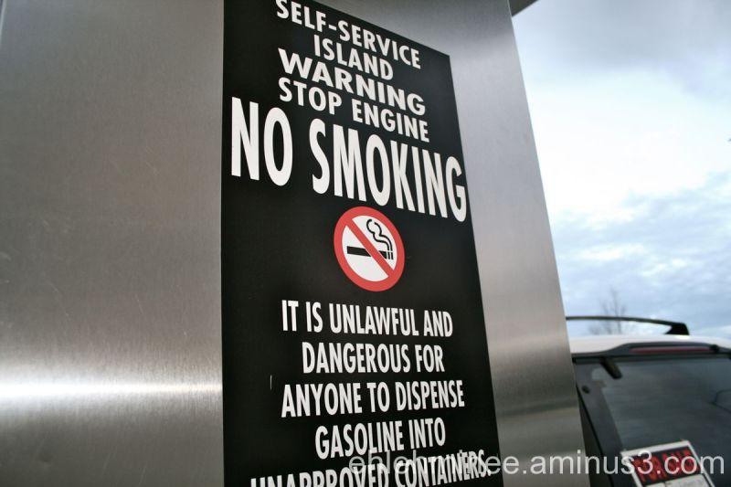 No Smoking at Gas Station