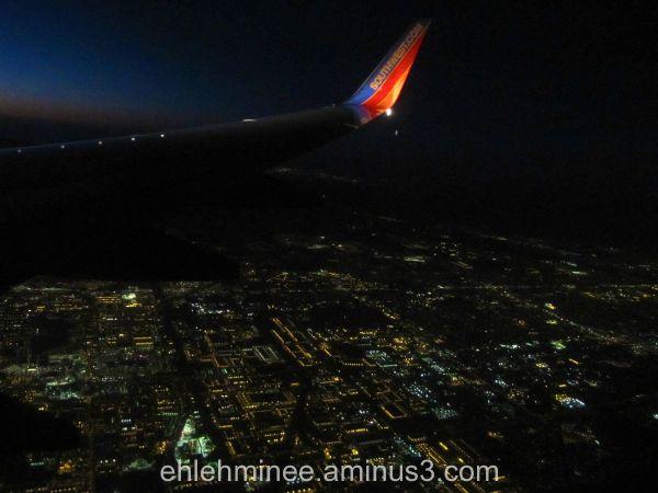Flying over LA
