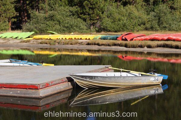Boat Dock Reflection at Hume Lake