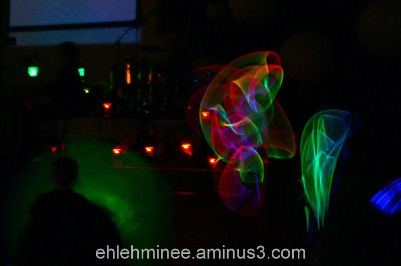 Light from glowsticks