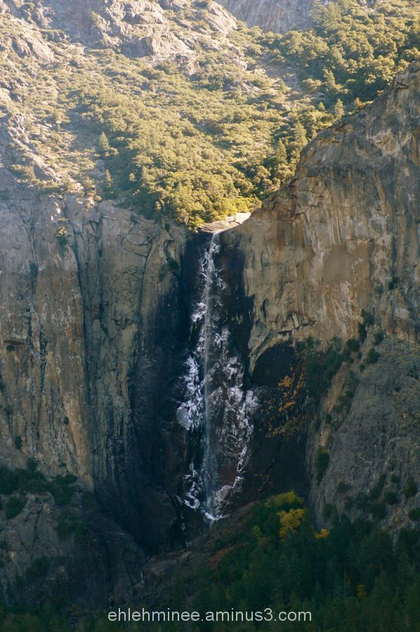 Bridalveil Falls in Yosemite National Park.