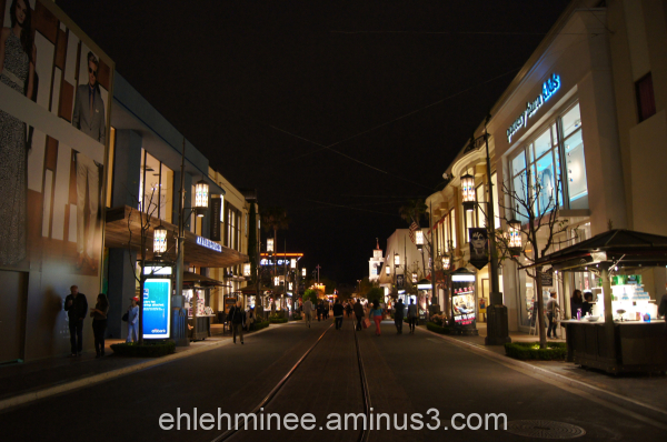 The Grove in Hollywood at Night