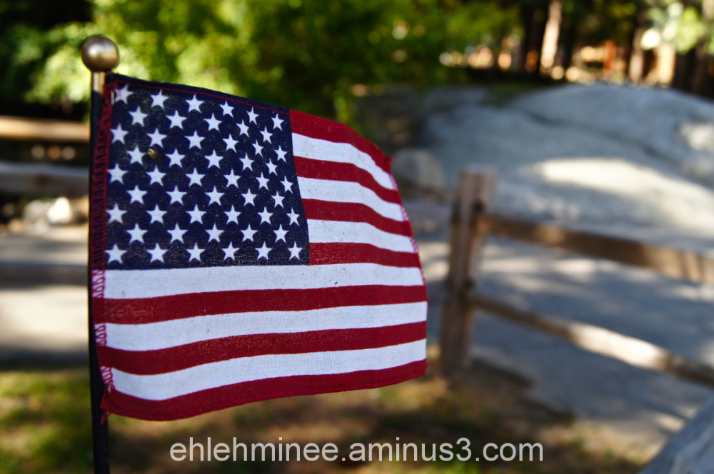 American Flag at hume lake