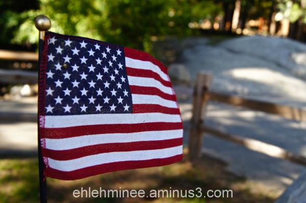 American Flag at hume lake