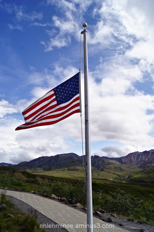 Half Mast Flag in Denali Alaska