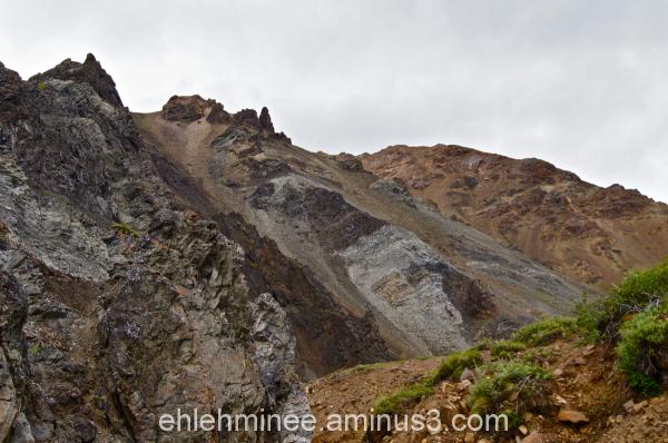 Tattler Creek rock outcroppings in Denali, Alaska