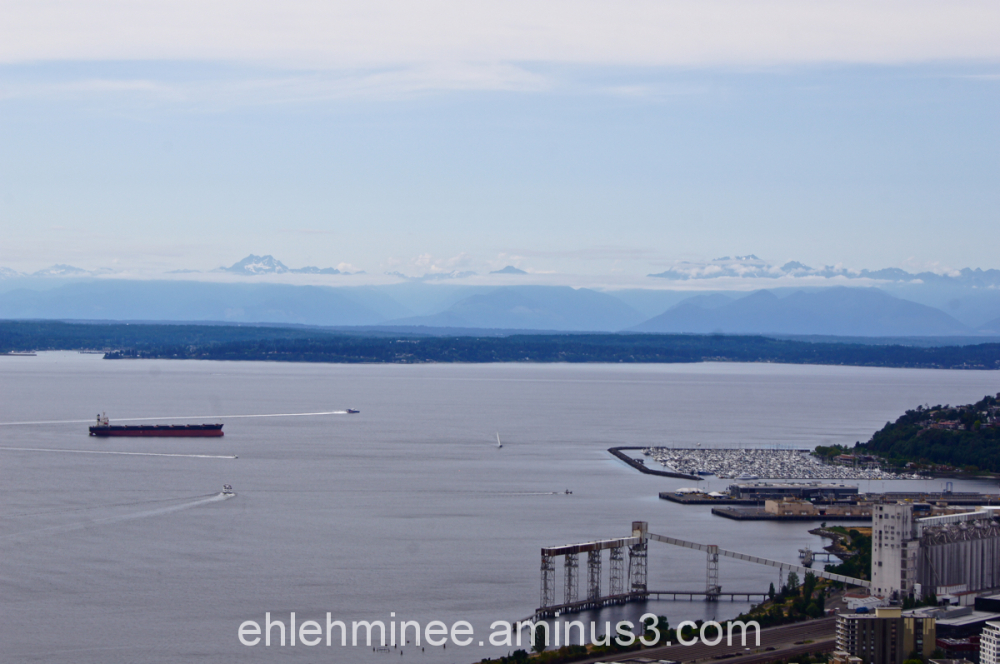 View from the Space Needle in Seattle Washington .