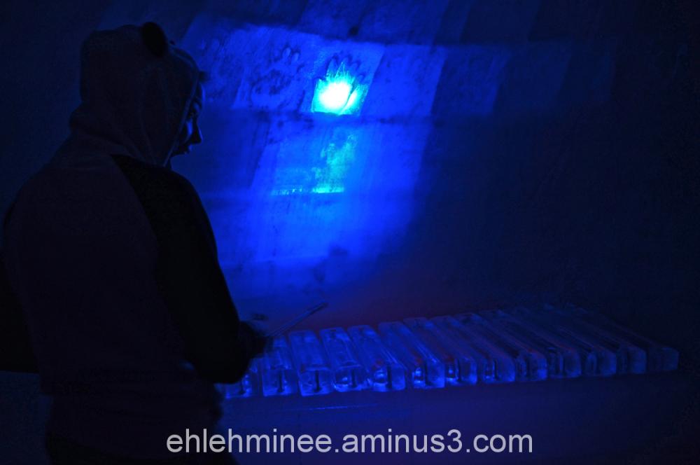 Girl Plays Ice Xylophone