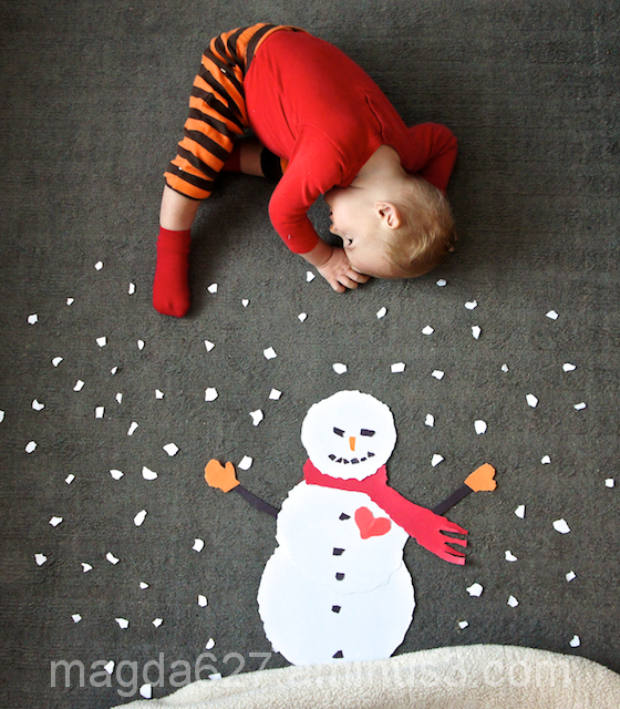 Playing with Paper Snowman