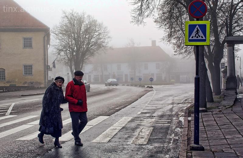 Udune päev Kuressaares, Foggy day in Kuressaare